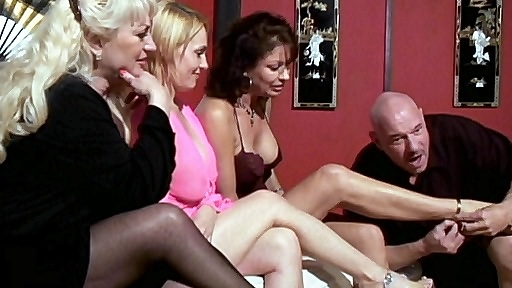 Things are bound to get real hot when you gather for hot grandmas together like Raquel Vanessa Videl Wanda Lust and Dane Hayes These hot four grannies are up to their dirty tricks and they are bringing out grampa to try out their strap on toys on him