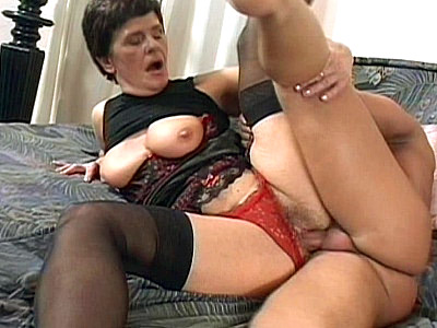 masturbate his cock Riding Granny
